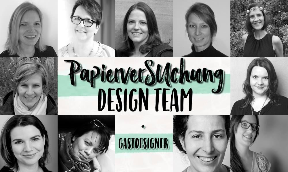 Banner PapierverSUchung Design Team + Gastdesigner