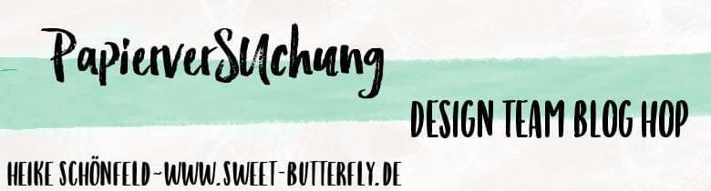 Banner PapierverSUchung Design Team - Sweet-Butterfly.de