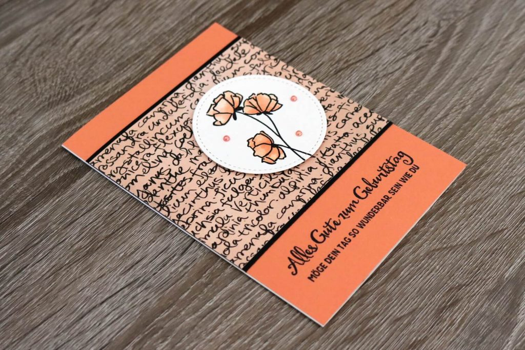 Kreativ-Hop Grapefruit - Geburtstagskarte