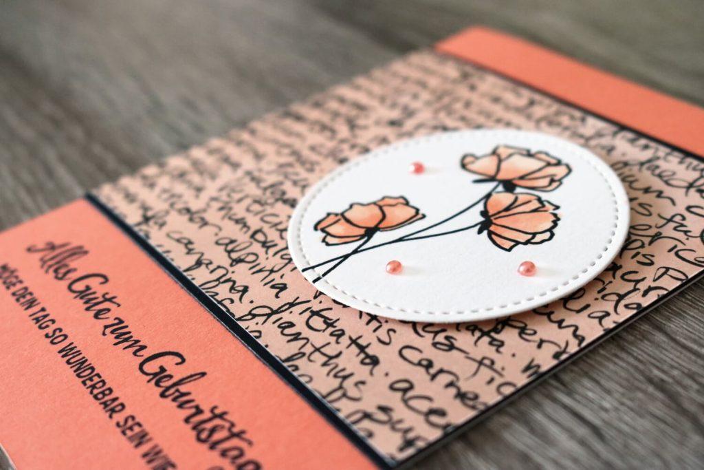 Kreativ-Hop Grapefruit - Geburtstagskarte - Closeup