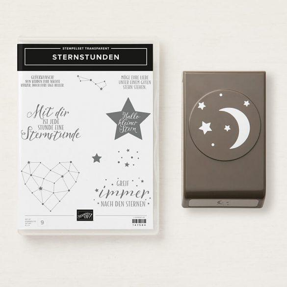 Stempelset Sternstunden und Elementstanze Mond und Sterne
