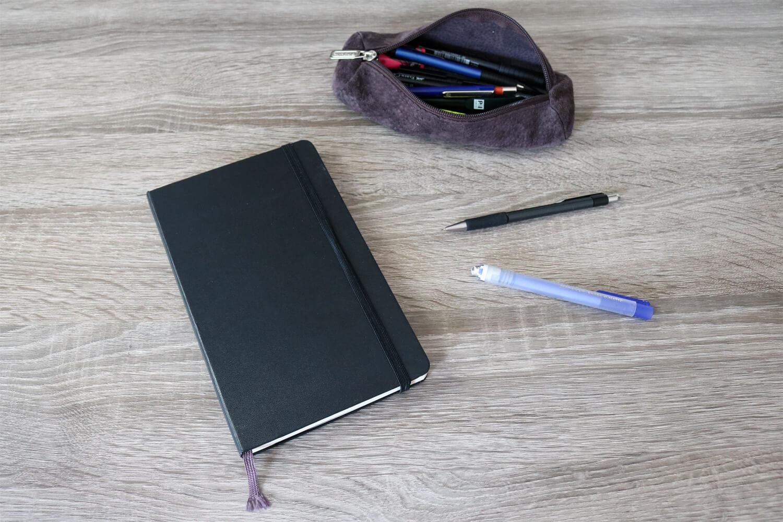 Mäppchen mit Skizzenbuch